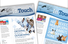 Cornerstone Group marketing turnkey print newsletters