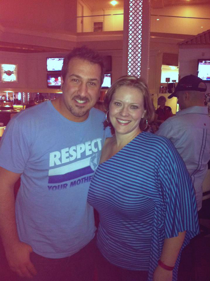Me meeting Joey Fatone from 'N Sync