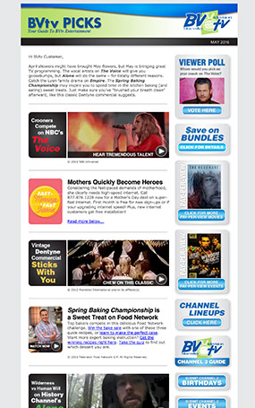 monthly tv enewsletter