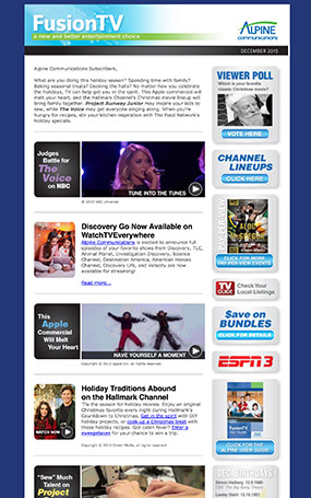 tv enewsletter example