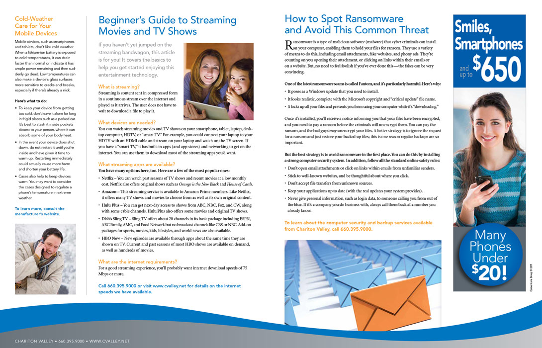 internet service provider hybrid print newsletter sample 2