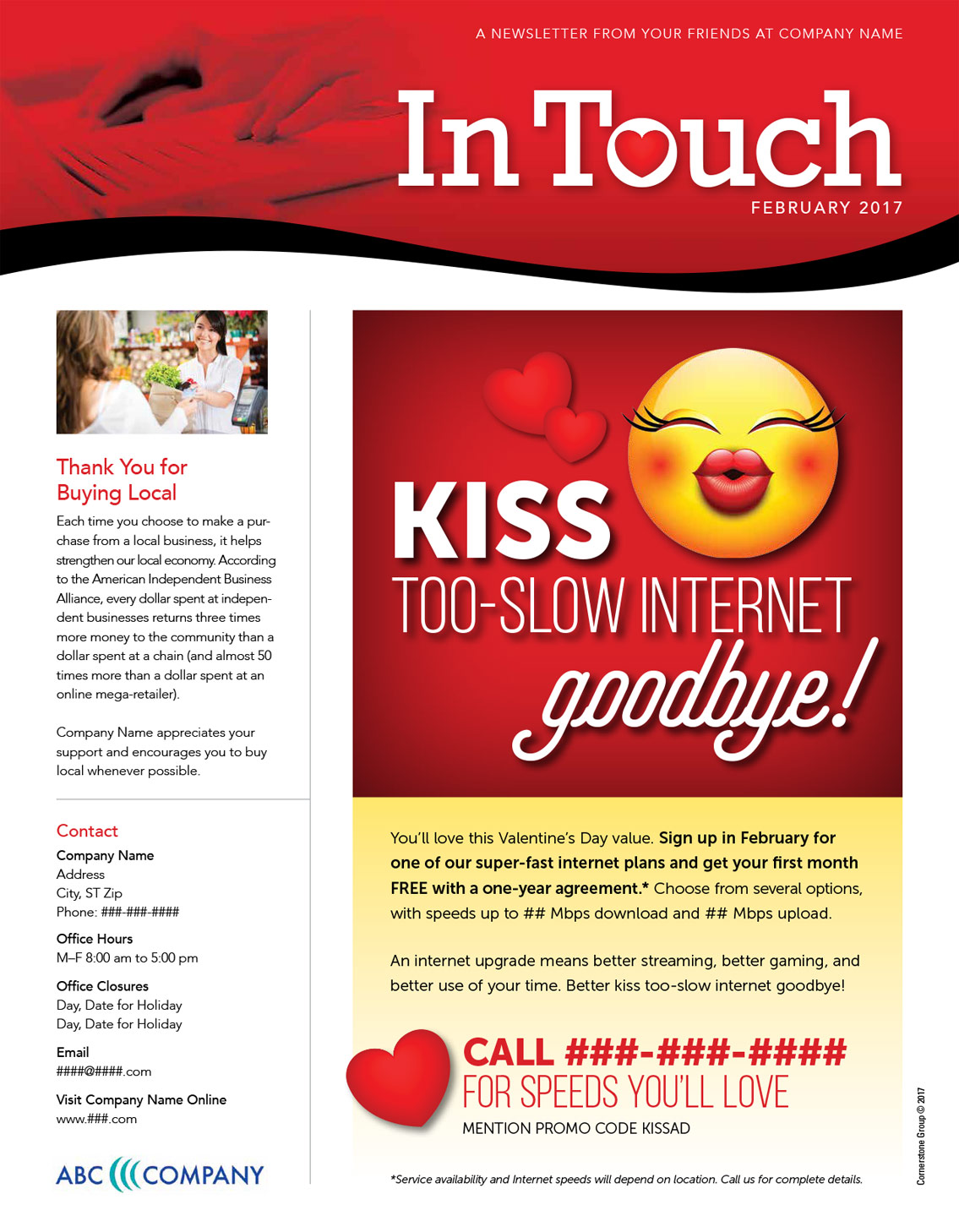 internet service provider turnkey print newsletter sample 1